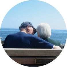Elder Couple Seashore